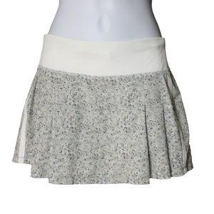 Lululemon Skirt Pleat Petite Fleur Silver Spoon 4
